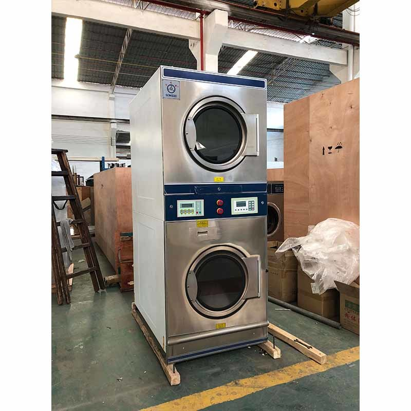 2*12kg electric heating industrial washing machine and commercial dryer factory
