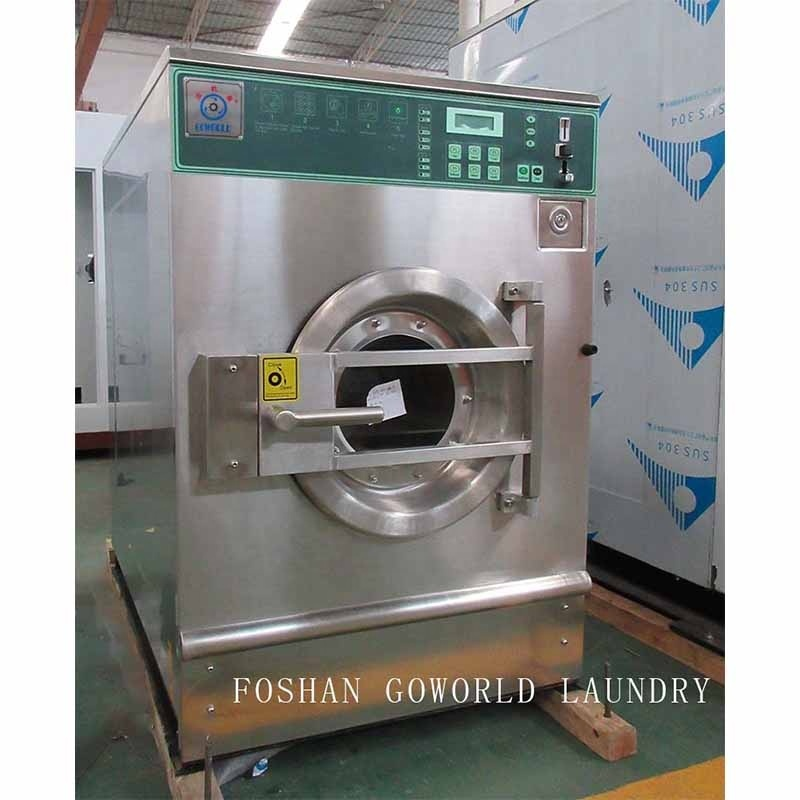 12kg electric heating hotel coin self service washer extractor