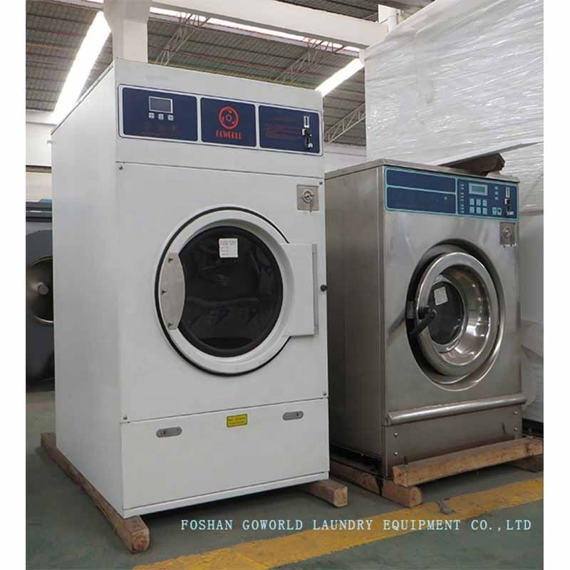 12kg gas heating coin laundry machine,coin operated laundry dryer