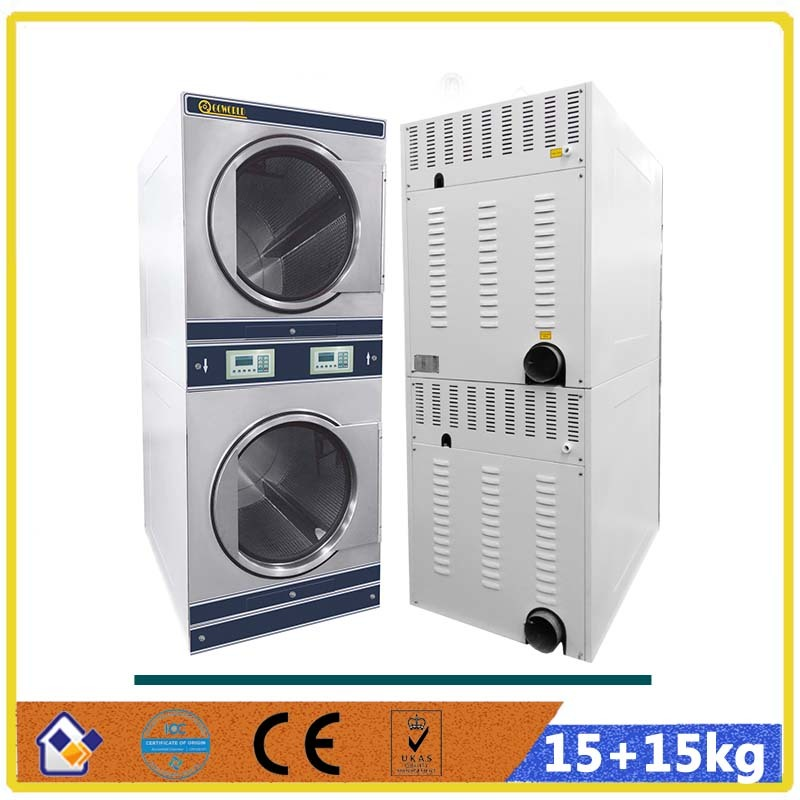 15kg stack laundromat T-shirt dryer machine