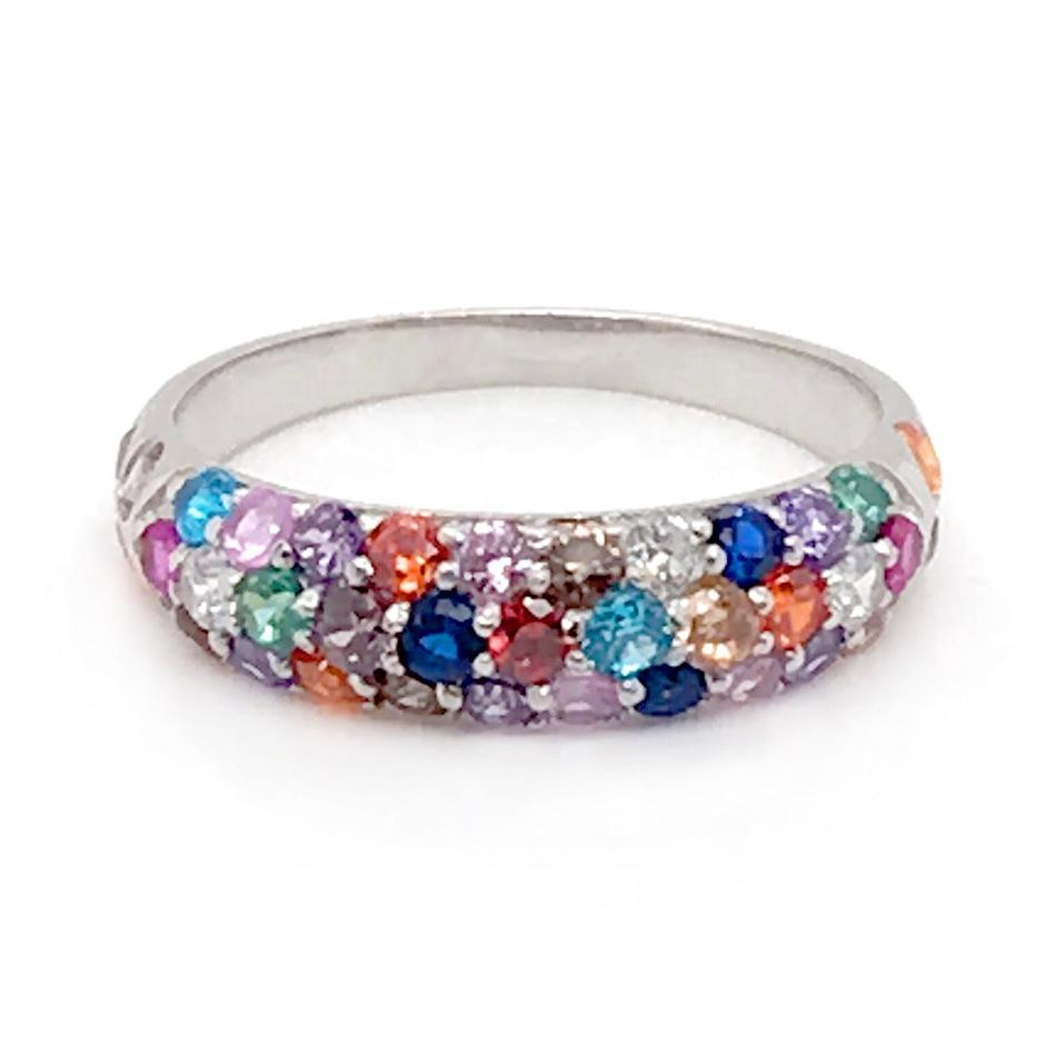 Best Price Colorful Stone Silver Wedding Bands Ring Laser Engraver