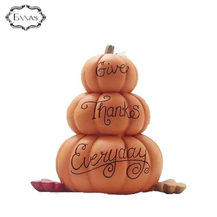 Give Thanks Everyday' Stacked Pumpkins Home Decoration and Gift