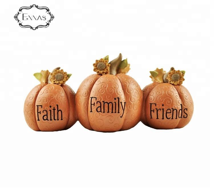 Custom made Mini artifical pumpkins Autumn harvest Thanksgiving party decorative resin crafts