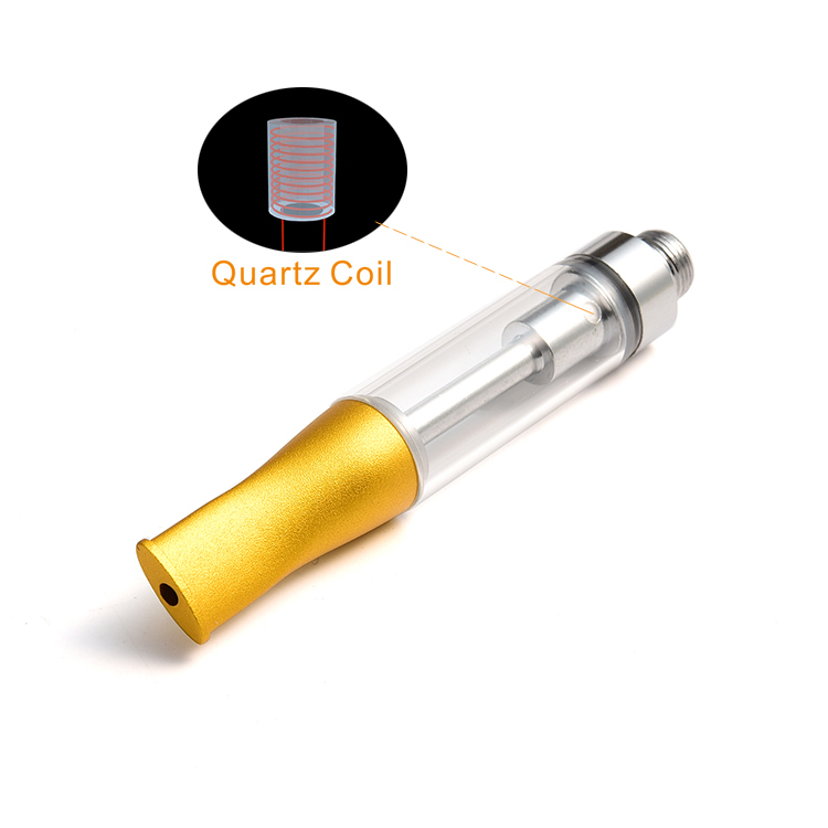 Quartz Coil 510 sub ohm tank essential oil vape .5ml ceramic glass cbd cartridge private label