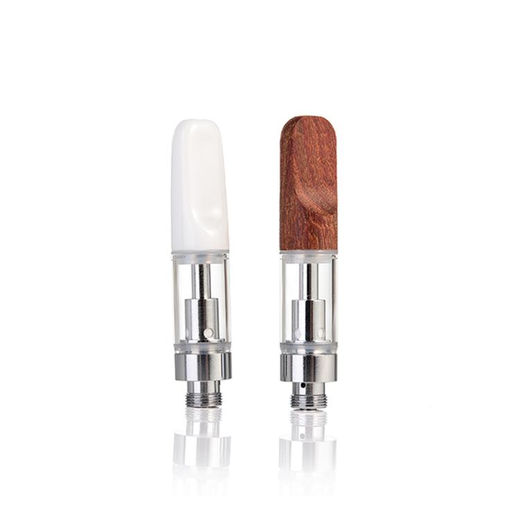 Refillable Wood Gold color 510 thread quartz not ceramic cbd cartridge 1.0ml vape pen cartridge bulk for vape pen