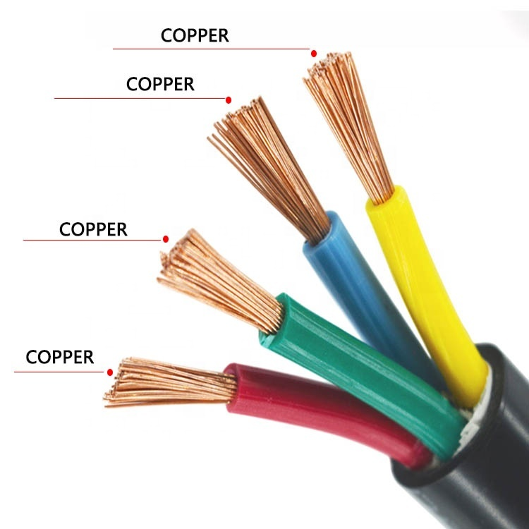 2020 New products RVV 2 3 Core Phase 1.5mm 4mm 10mm2 Electrical Copper Flexible Power Cable Wire Sizes Price