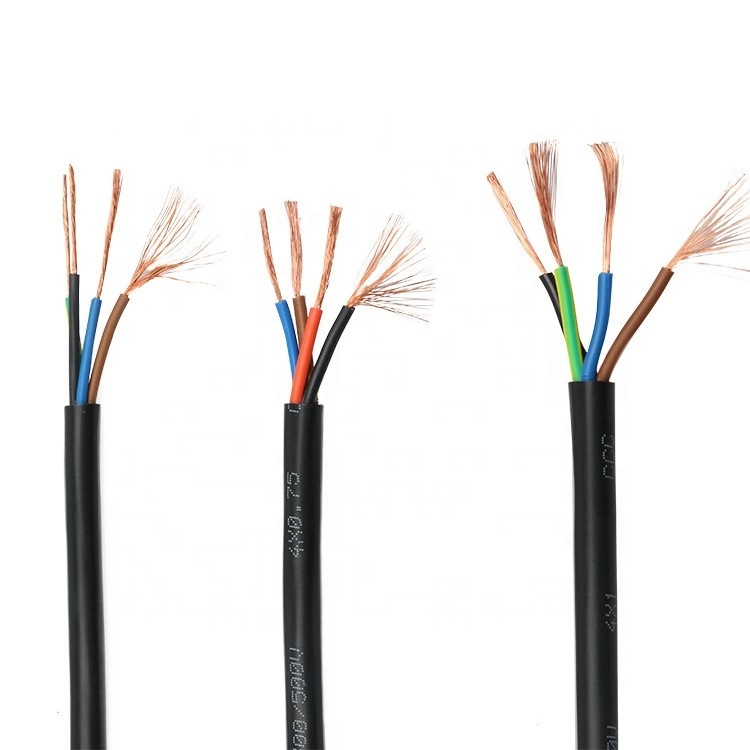 Copper Electric Wire 220v 3 Wire 6mm2 Flat Electric Cable Price List