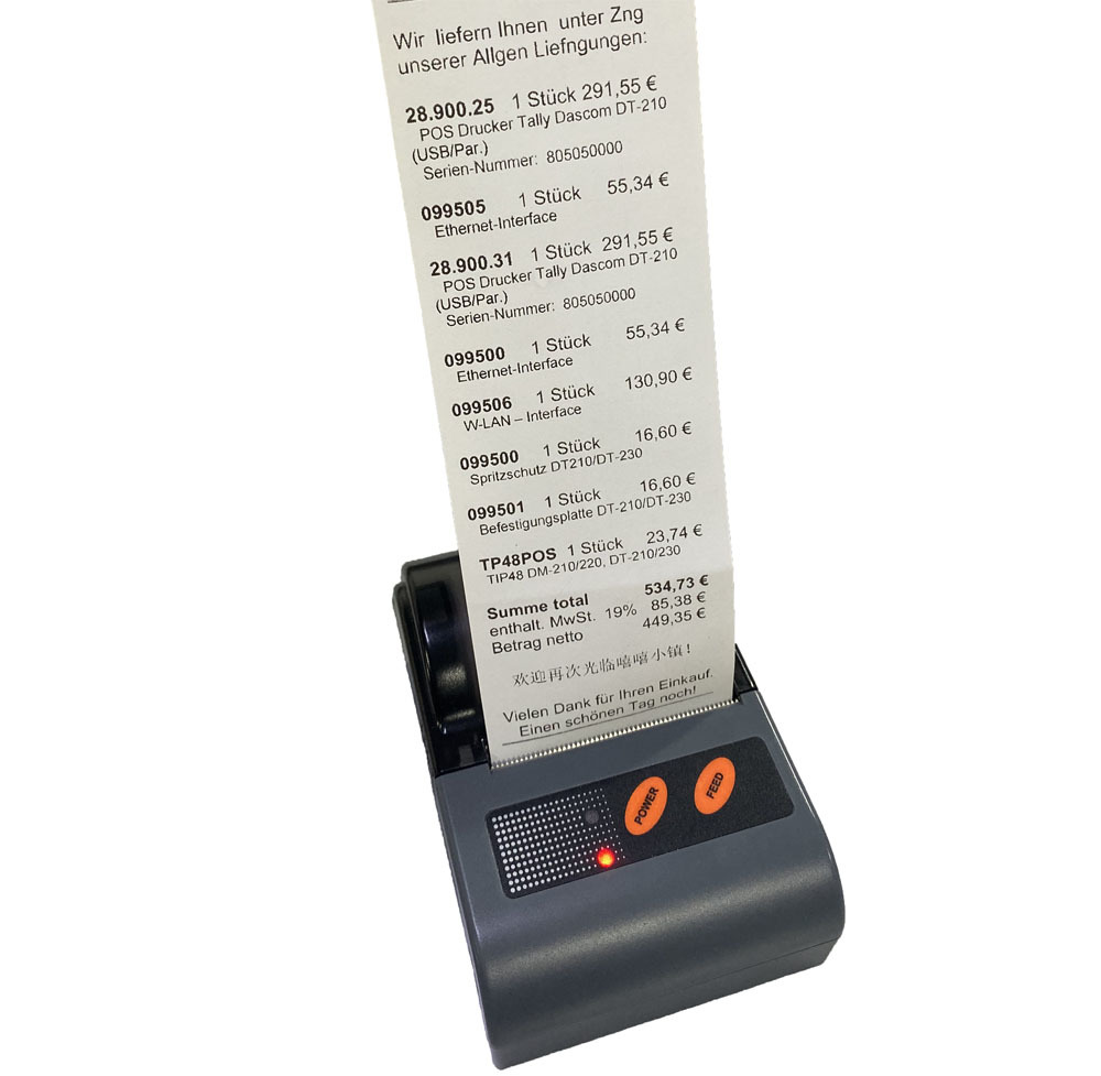 Cheap 58mm POS bluetooth thermal receipt printer, support Android and IOS, Easy Operation!