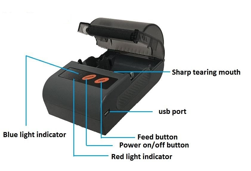Small Receipt Portable Android Bluetooth Thermal Printer