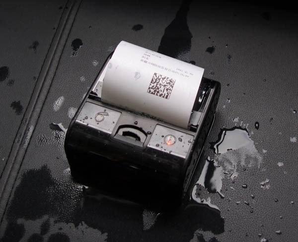 Goodcom Portable Android Barcode Printer for Samsung Smartphone for Police Inspector