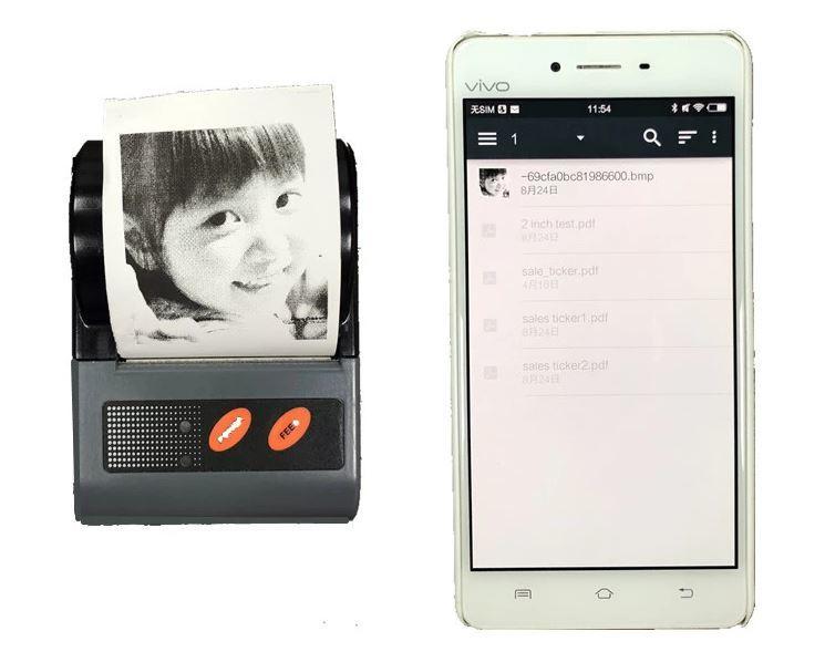 2 Inch Mini QR Code Portable Handheld Bluetooth Mobile Printer