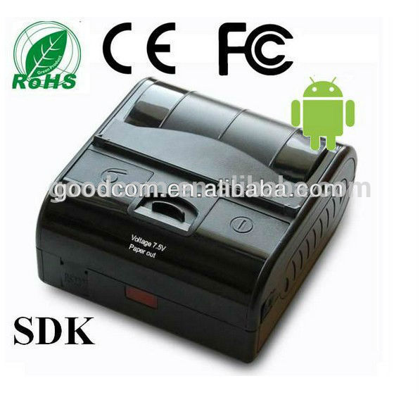 portable 80mm thermal paper Mini Android Bluetooth Printer for Android Tablet / Laptop and Smartphone , SDK Free