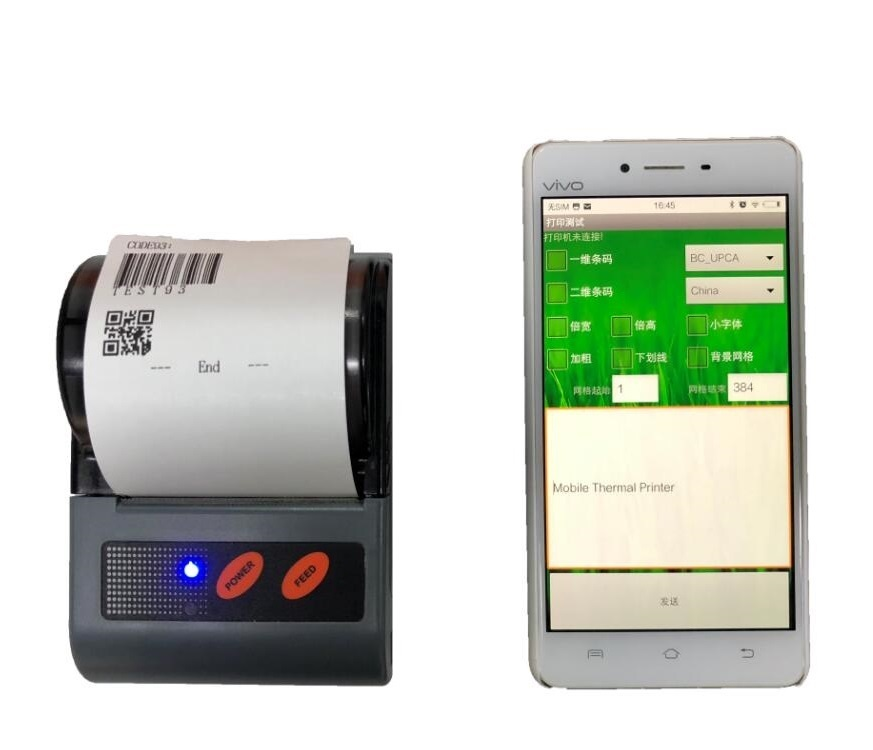 Mini Bluetooth Thermal Printer for Android Mobile Phone Tablet and PC