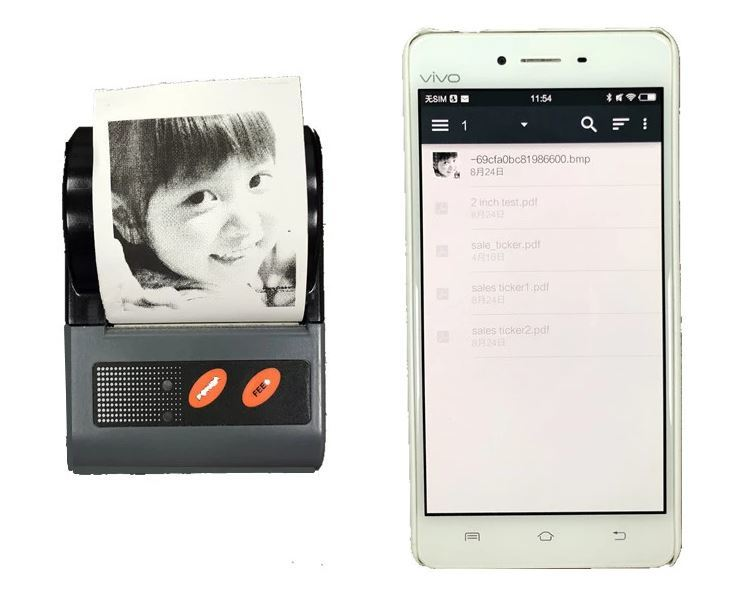 Multiple Language Supported Thermal Label Sticker Mobile Bluetooth Printer
