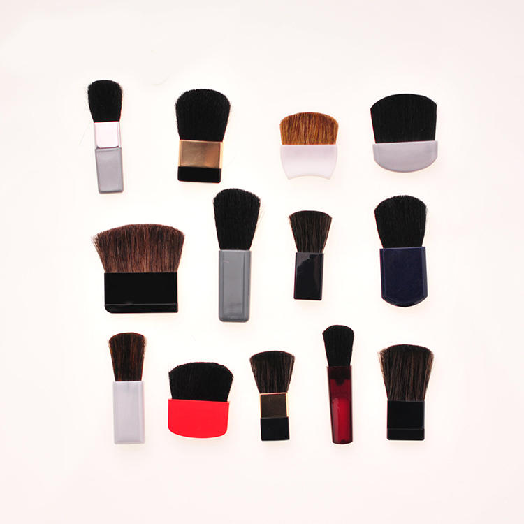 Animal hair Compatible with Makeup Case Mini kabuki Contour Blush Brush