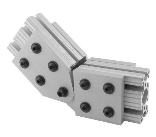 OEM Price Hole Inside Corner Bracket Aluminum T-slot Profiles Clear Anodized Extrusion