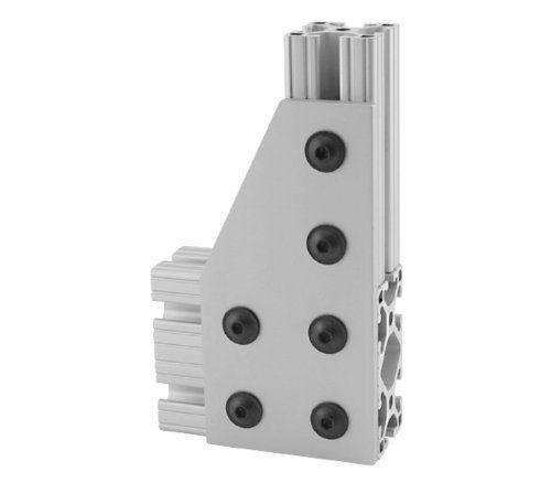 Foshan Hole Inside Corner Bracket Aluminum T-slot Profiles Clear Anodized Extrusion