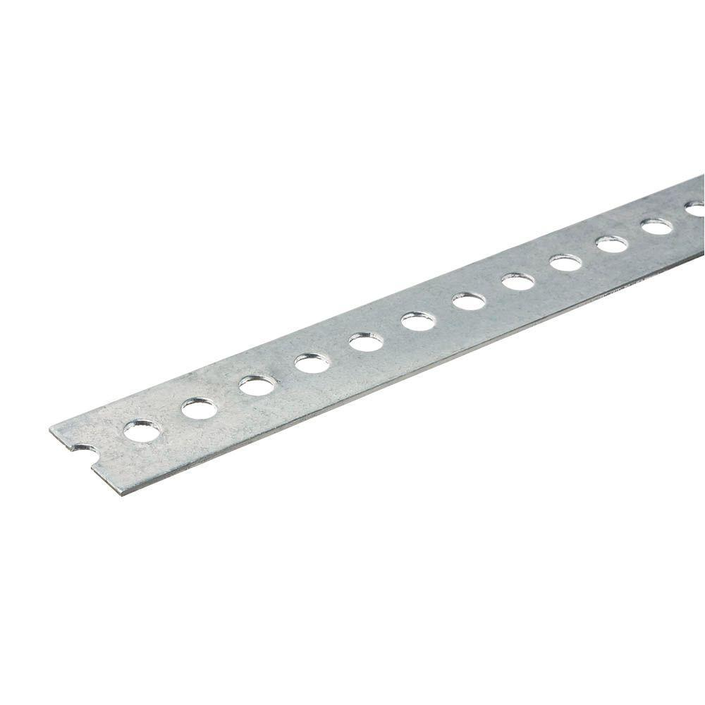 Punched Aluminum Flat Bar with 1/16 in. Thick Extrusion Profile