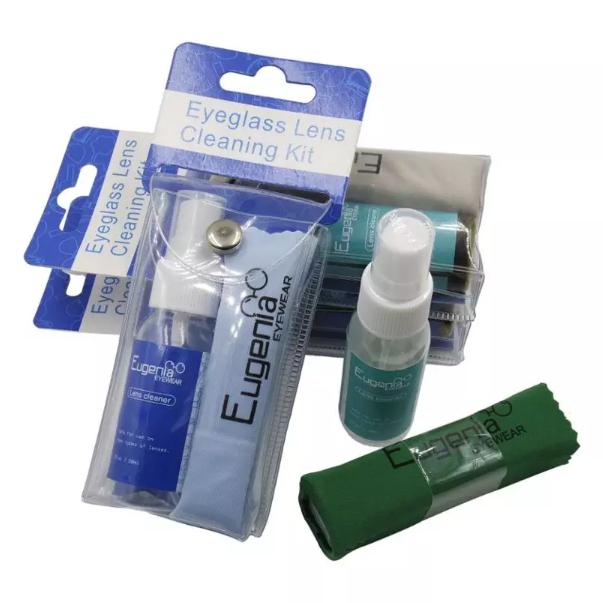 30ml lens cleaner plastic bottle liquid lens spray cleaning cloth set