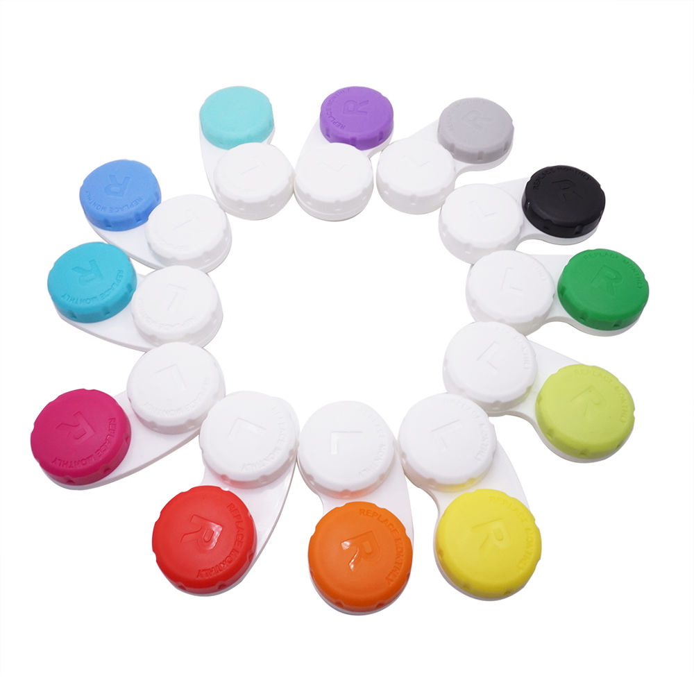 EUGENIA Eyeglasses Accessories Convenient Small Colorful Monthly Replace Cheap PriceContact Lens Cases