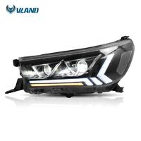 Vland Factory Car Assembly Headlight For HILUX 2015 2016 2017 2018 2019 With FULL LED And Turn Signal+DRL+Plug And Play
