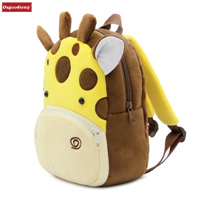 product-Osgoodway-Osgoodway Cartoon Plush Children Backpacks kindergarten Schoolbag Animal Kids Back