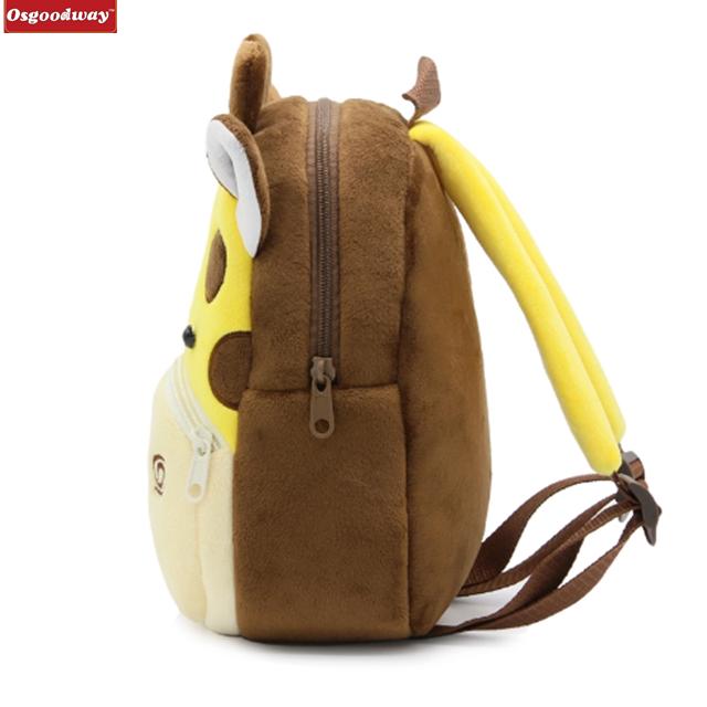 product-Osgoodway Cartoon Plush Children Backpacks kindergarten Schoolbag Animal Kids Backpack Child-1