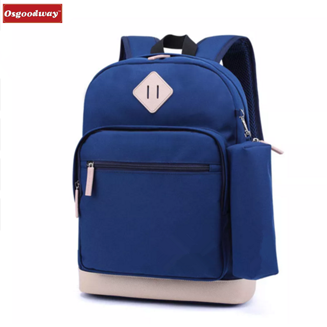 Osgoodway OEM Children Bag Kids Backpack Polyester Casual Teenagers School Bags Backpack with Pencil Case