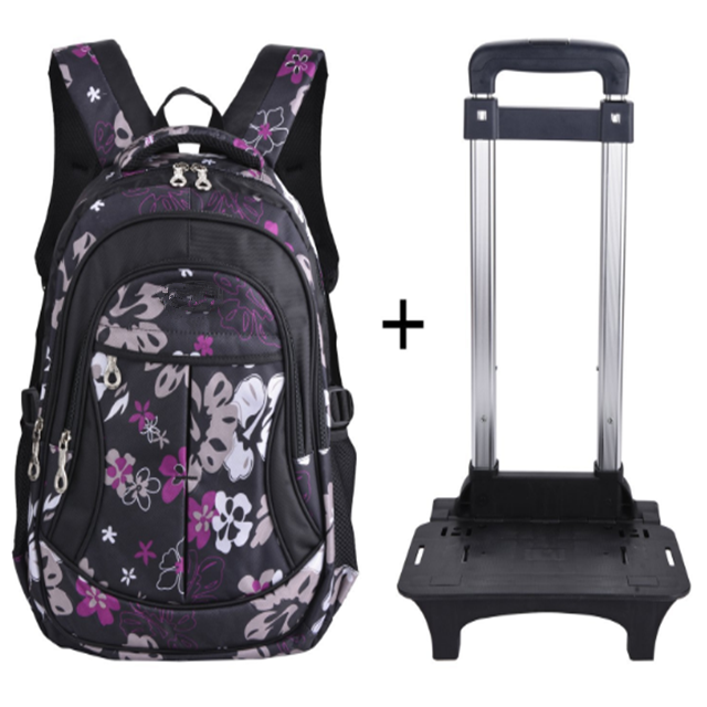 product-Osgoodway New Products Waterproof Trolley Child Girls Backpack School Bags with Wheeled Trol-1