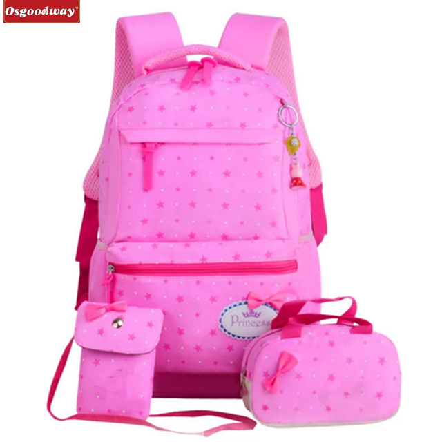 product-Osgoodway Children School Bags Teenagers Girls Printing Rucksack school Backpacks kids trave-1