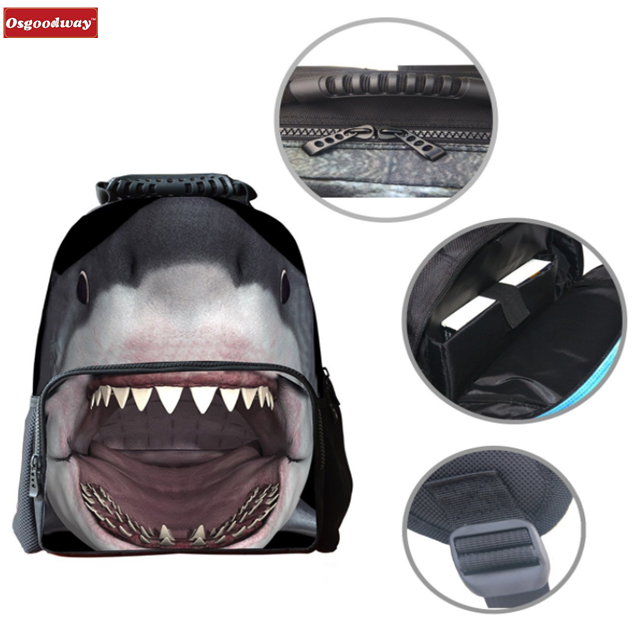 product-Osgoodway-Osgoodway Boys Girls Casual Backpack 3D Animals Print School Backpack Bags Laptop