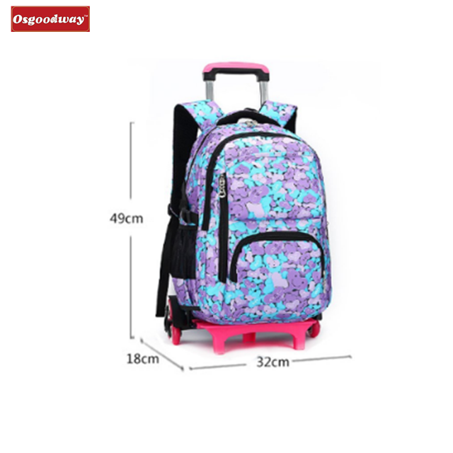 product-Osgoodway New WaterProof Travelling Bags Students Trolley Backpack Rolling Backpack Wheeled -1