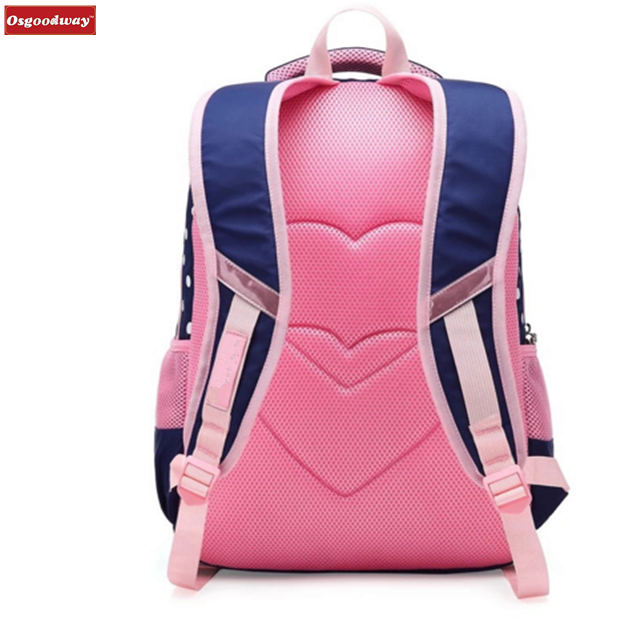 product-Osgoodway-Osgoodway Fashion Beautiful Girls Backpack Pink Bow Decorations Waterproof Nylon S