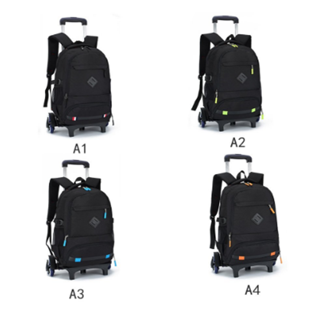 product-Osgoodway-Osgoodway Rolling Backpack Luggage Wheeled Backpack Travel Laptop Six Wheels Unise