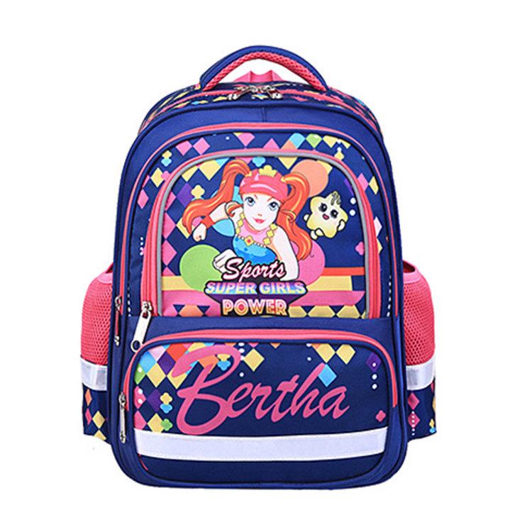 Osgoodway BSCI Factory Cartoon School Custom Backpack Multi Pockets Children Bag Kids Backpack