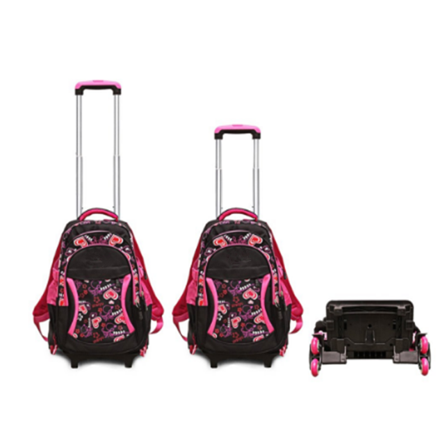 product-Osgoodway Rolling Backpack Kids Backpack With Wheels Children School Bags Trolley Schoolbag -1