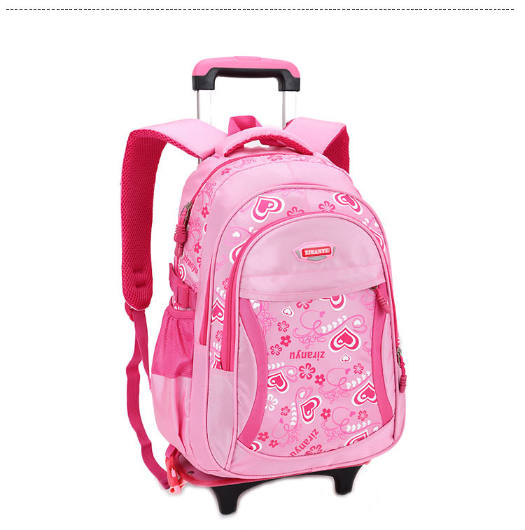 Osgoodway Student 3 Wheel Climbing Stairs Detachable Trolley Children Carry on School bags