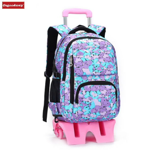 product-Osgoodway-Osgoodway New WaterProof Travelling Bags Students Trolley Backpack Rolling Backpac
