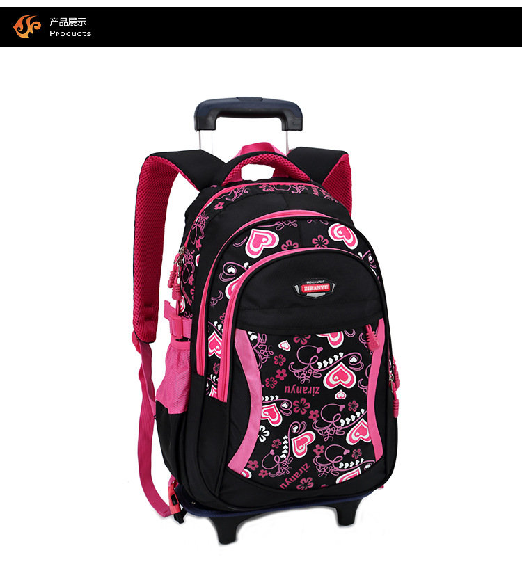 product-Osgoodway Student 3 Wheel Climbing Stairs Detachable Trolley Children Carry on School bags-O-1