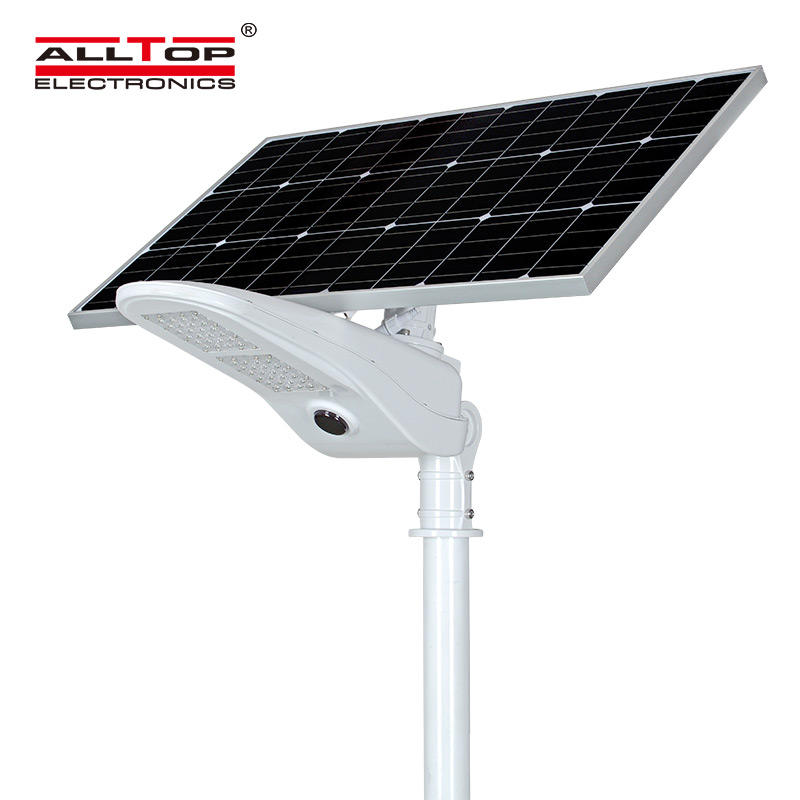 ALLTOP High quality outdoor IP65 waterproof light control sensor 50w solar led street lamp