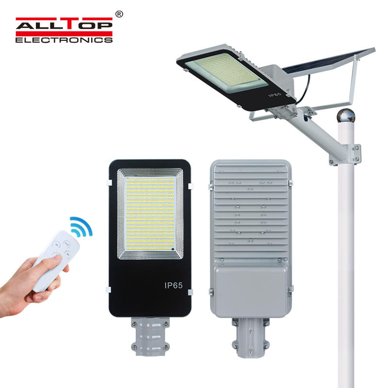 ALLTOP IP65 Outdoor waterproof remote controller smd white 300w integrated led solar street light