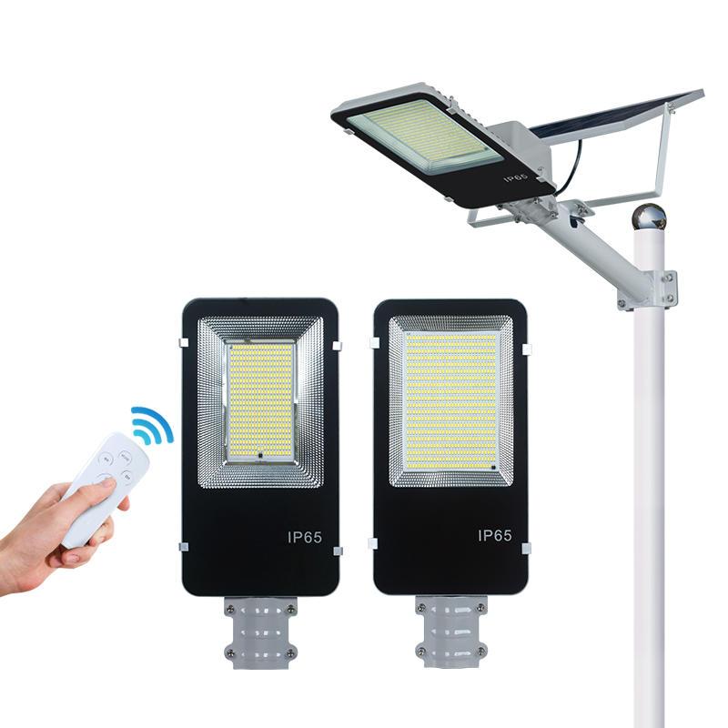 ALLTOP Ip65 outdoor waterproof aluminum 200w intelligent remote controller solar led street light