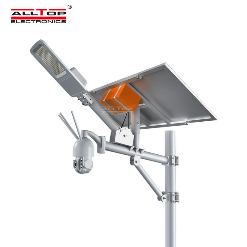 ALLTOP 80 Watt Outdoor Waterproof IP65 Solar Security LED Street Light with CCTV camera