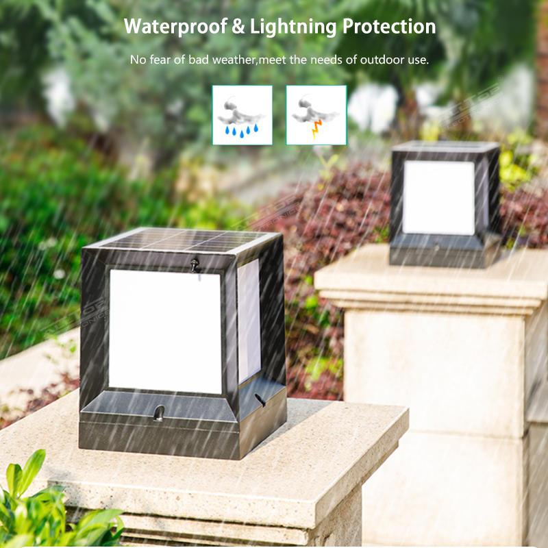 ALLTOP Double light source garden light outdoor all in one 5w IP65 waterproof LED solar garden light