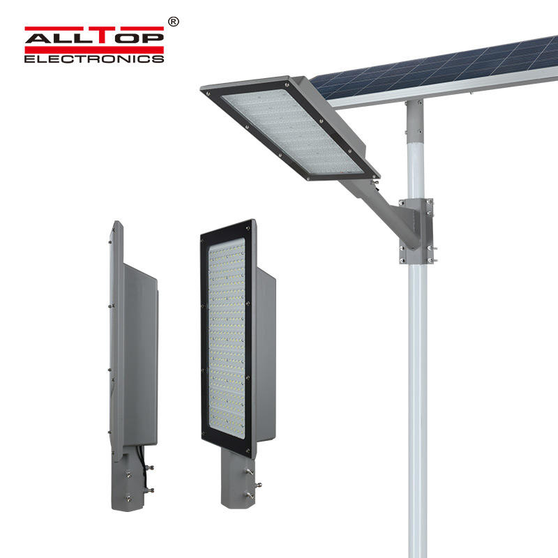 ALLTOP Tool free disassembly Aluminum housing outdoor lighting ip66 180w solar led streetlight price