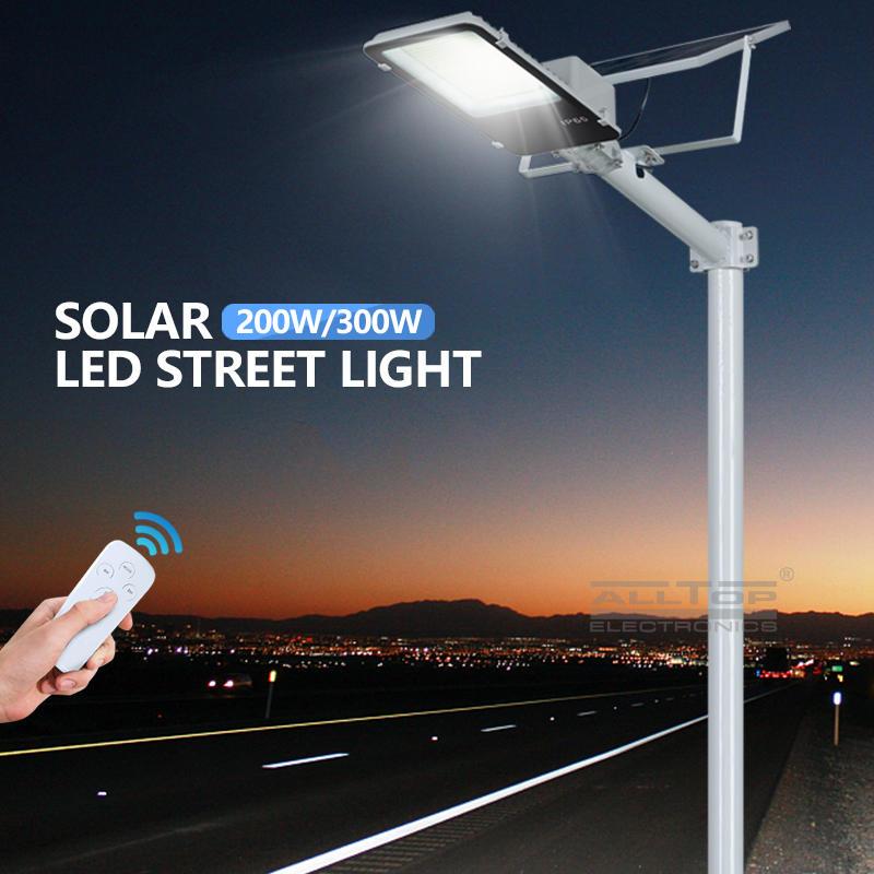 ALLTOP 3 years warranty high quality SMD bridgelux Outdoor IP65 300w solar led street lamp