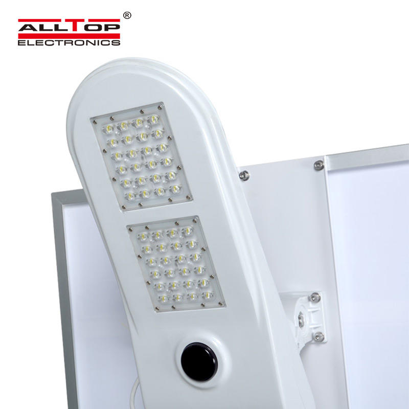 ALLTOP High quality outdoor IP65 waterproof light control sensor 50w solar led street lamp