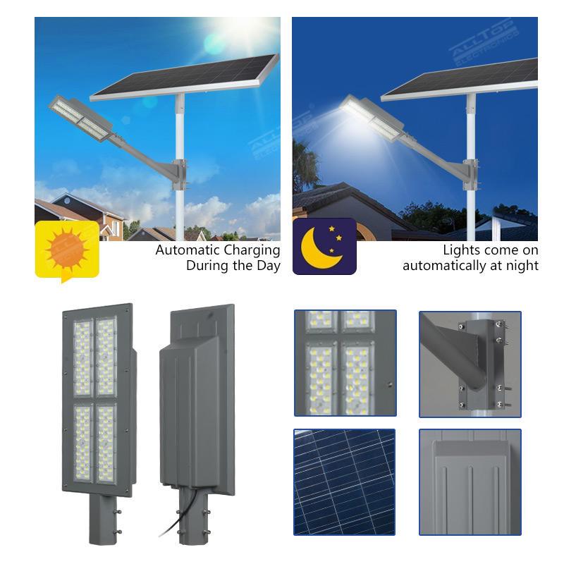 ALLTOP High quality aluminum outdoor IP65 waterproof smd 90w solar led street light