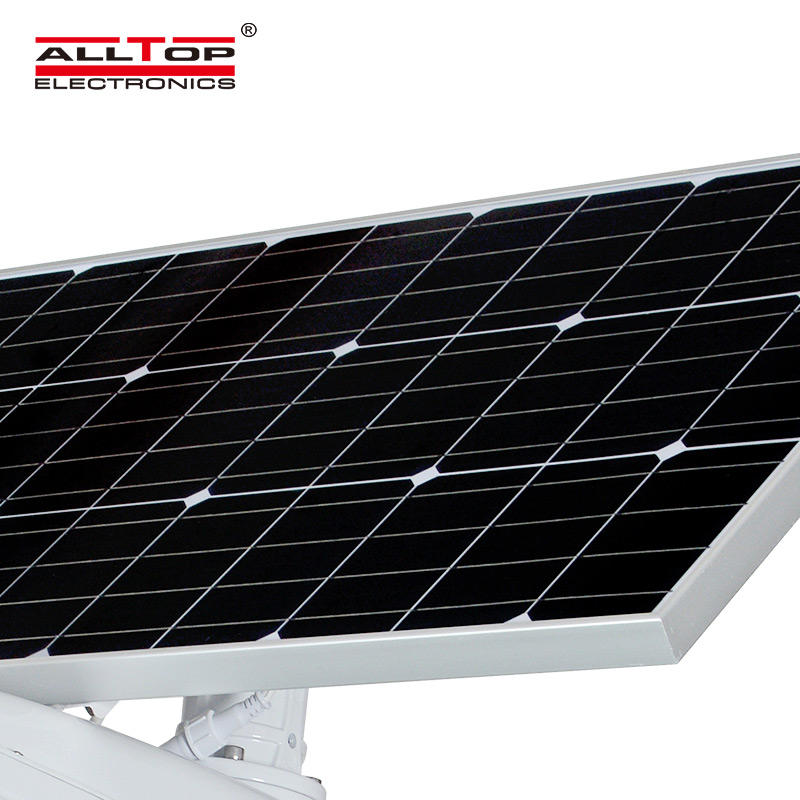 ALLTOP Outdoor lighting IP65 waterproof Cool White aluminum 50w led solar street light