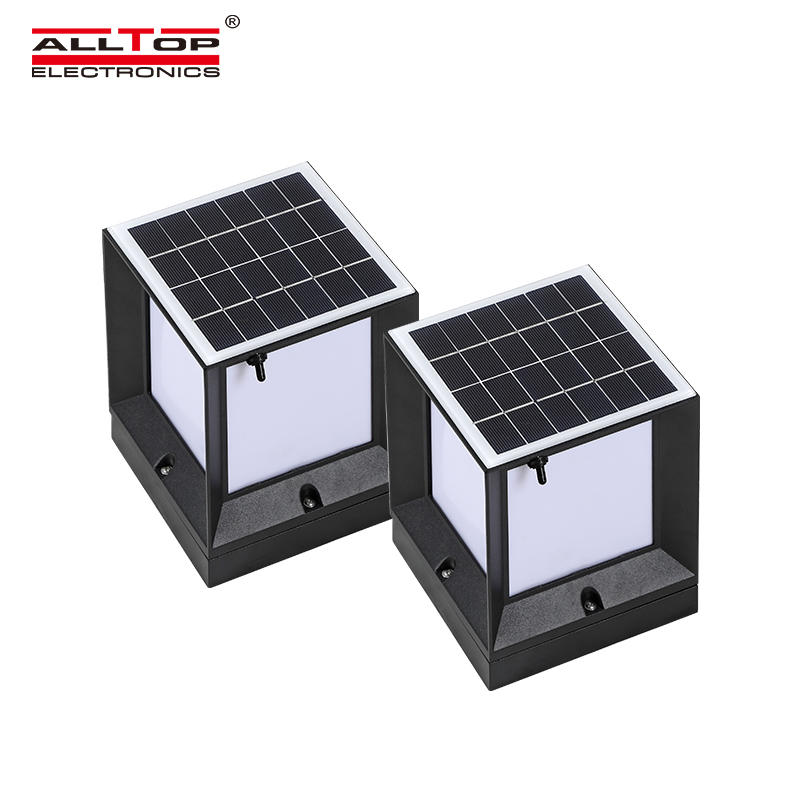 ALLTOP Double light source garden light outdoor all in one 5w IP65 waterproof LED solar garden light